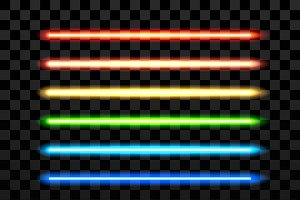 Realistic colorful laser vector beam