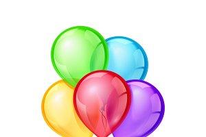 Celebratory vector balloons