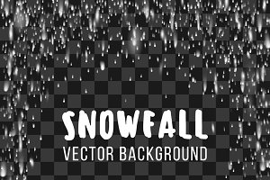 Snowfall abstract template