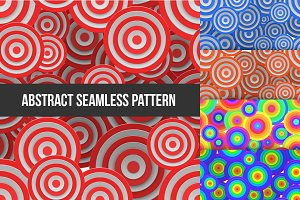 Abstract Round Seamless Pattern