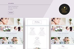 AVANDA Photography Price Guide Flyer