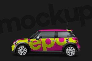 4K Mini Cooper Wrap PSD Mockup