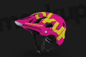 4K Mountain Bike Helmet PSD Mockup