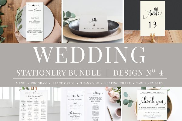 Stationery Templates: Studio Nellcote - Massive Wedding Stationery Bundle