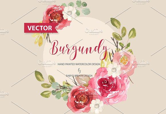 Burgundy Design VECTOR