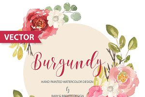Burgundy Design VECTOR