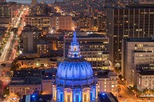 San Francisco City Hall Close-up