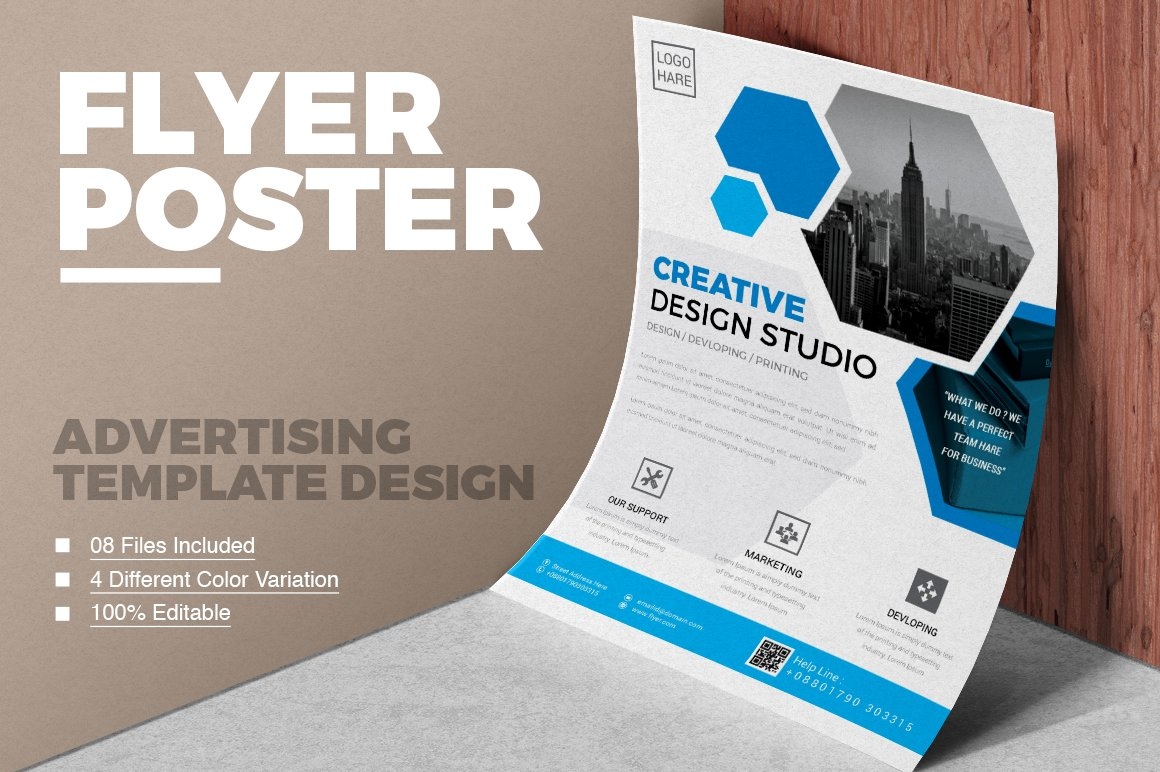 Corporate business flyer vol 01 flyer templates creative market accmission