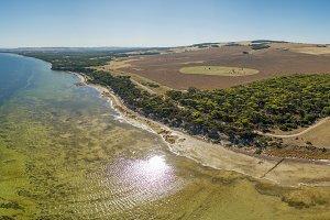 Kangaroo Island aerial view