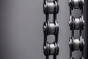 metal Bicycle chain. closeup