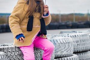 beautiful stylish little girl with glasses