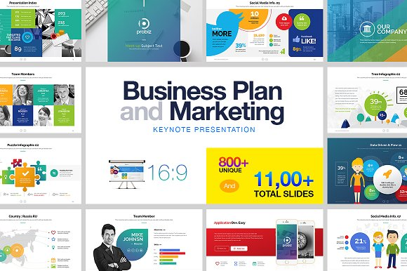 Business Plan Marketing KeyNote Presentation Templates - Keynote business plan template