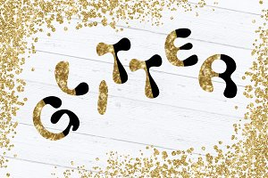 Set of Glitter Alphabet