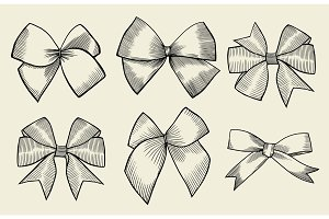 Vintage ribbon bows