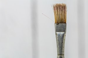 brush for drawing closeup