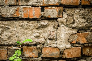 beautiful background made of old bricks