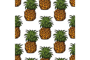pineapple palm pattern