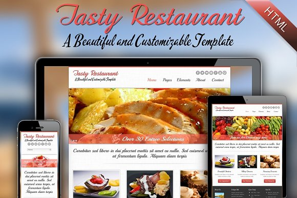 Tasty - A Responsive HTML Website