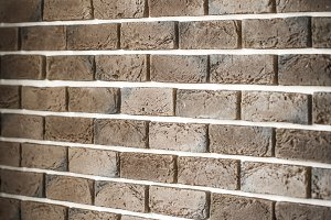 light brown brick wall in a diagonal