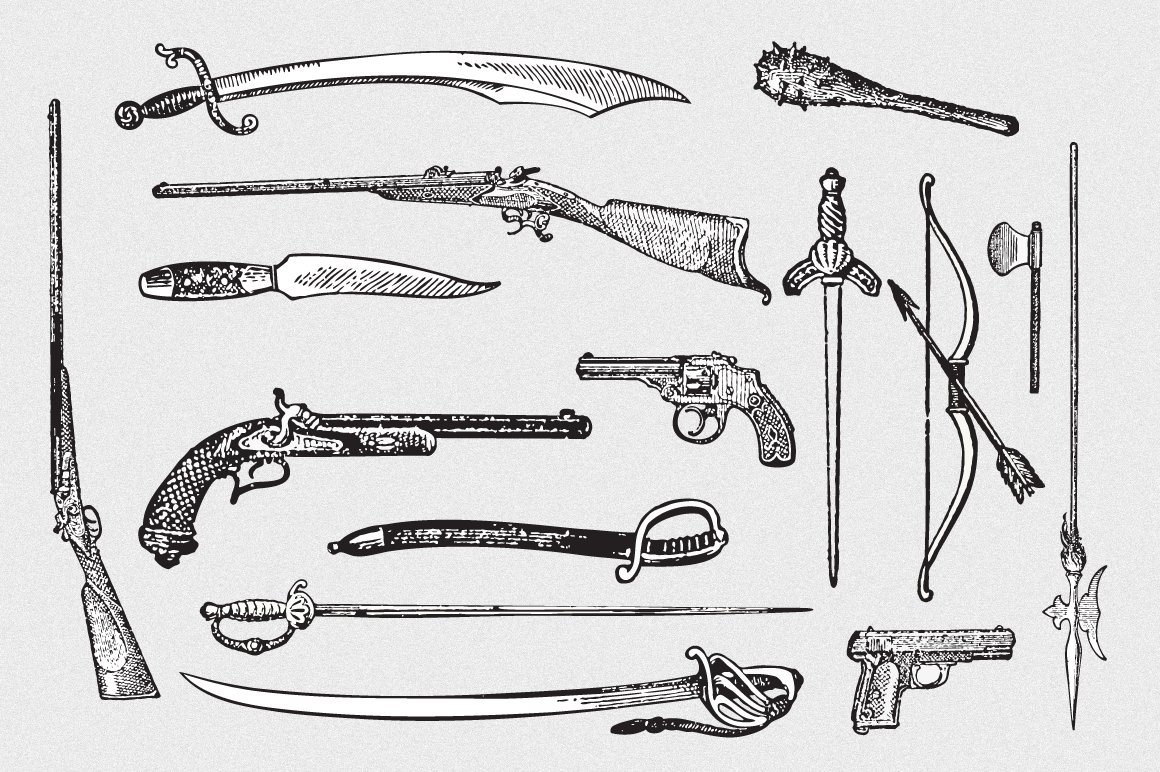Weapons Vector Pack ~ Illustrations ~ Creative Market
