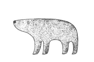 Hand drawn Polar Bear