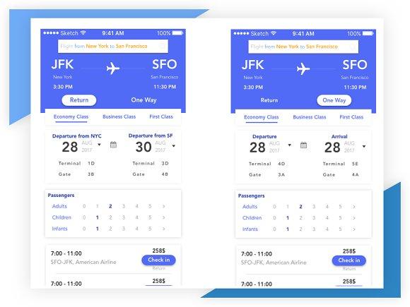 Flight Booking App.Sketch