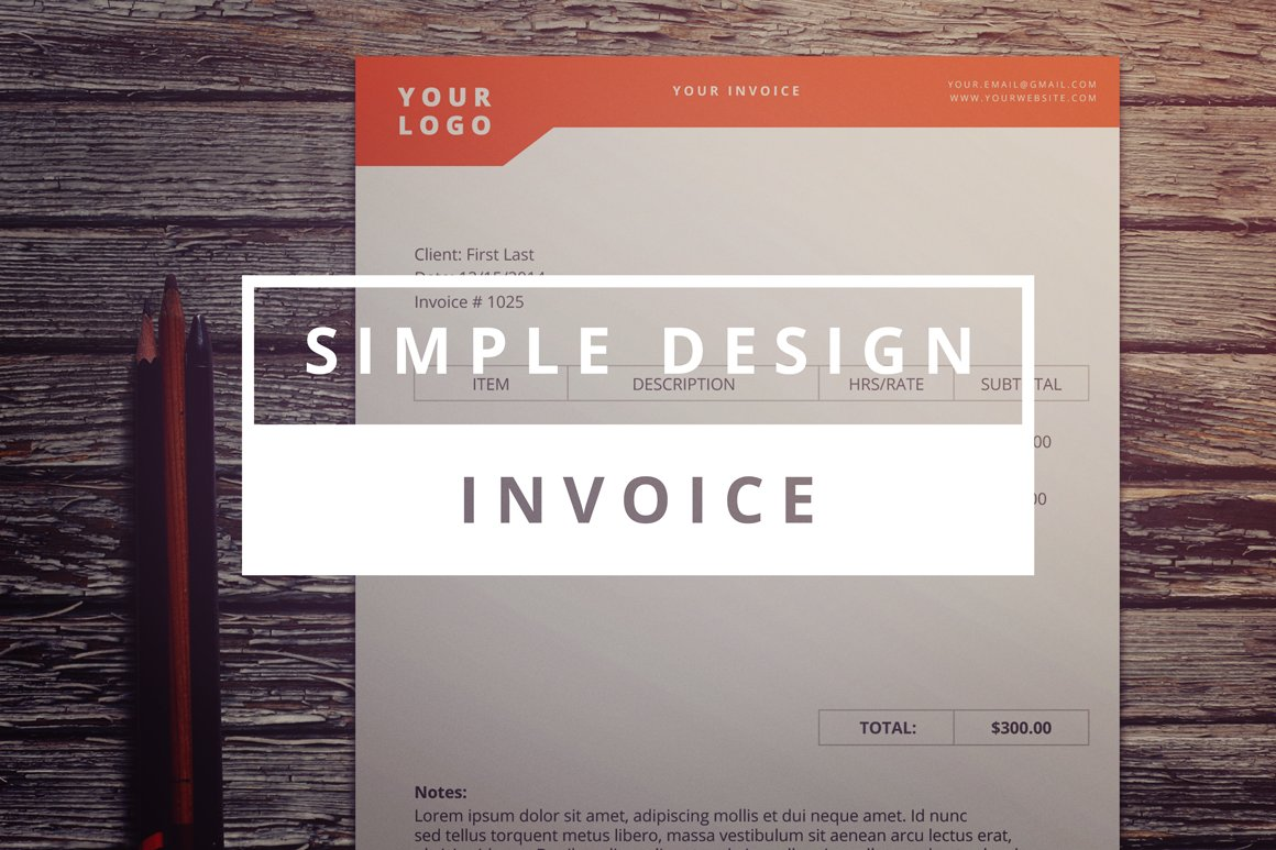 Simple design invoice stationery templates creative market spiritdancerdesigns Images