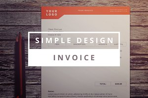 Simple Design Invoice