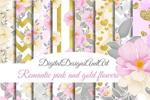 Romantic flowers papers