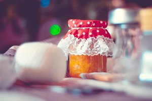 Jar of homemade jam
