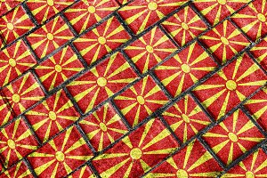 Macedonia Flag Urban Grunge Pattern