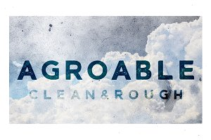 Agroable - Clean & Rough Font