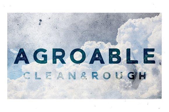 Agroable Clean Rough Font