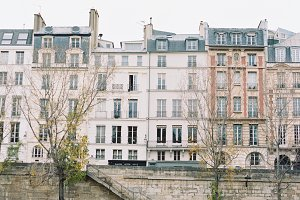 Pink Paris Buildings