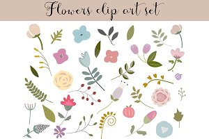 Flowers clip art set 2
