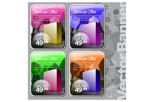 Shiny gloss colours banner