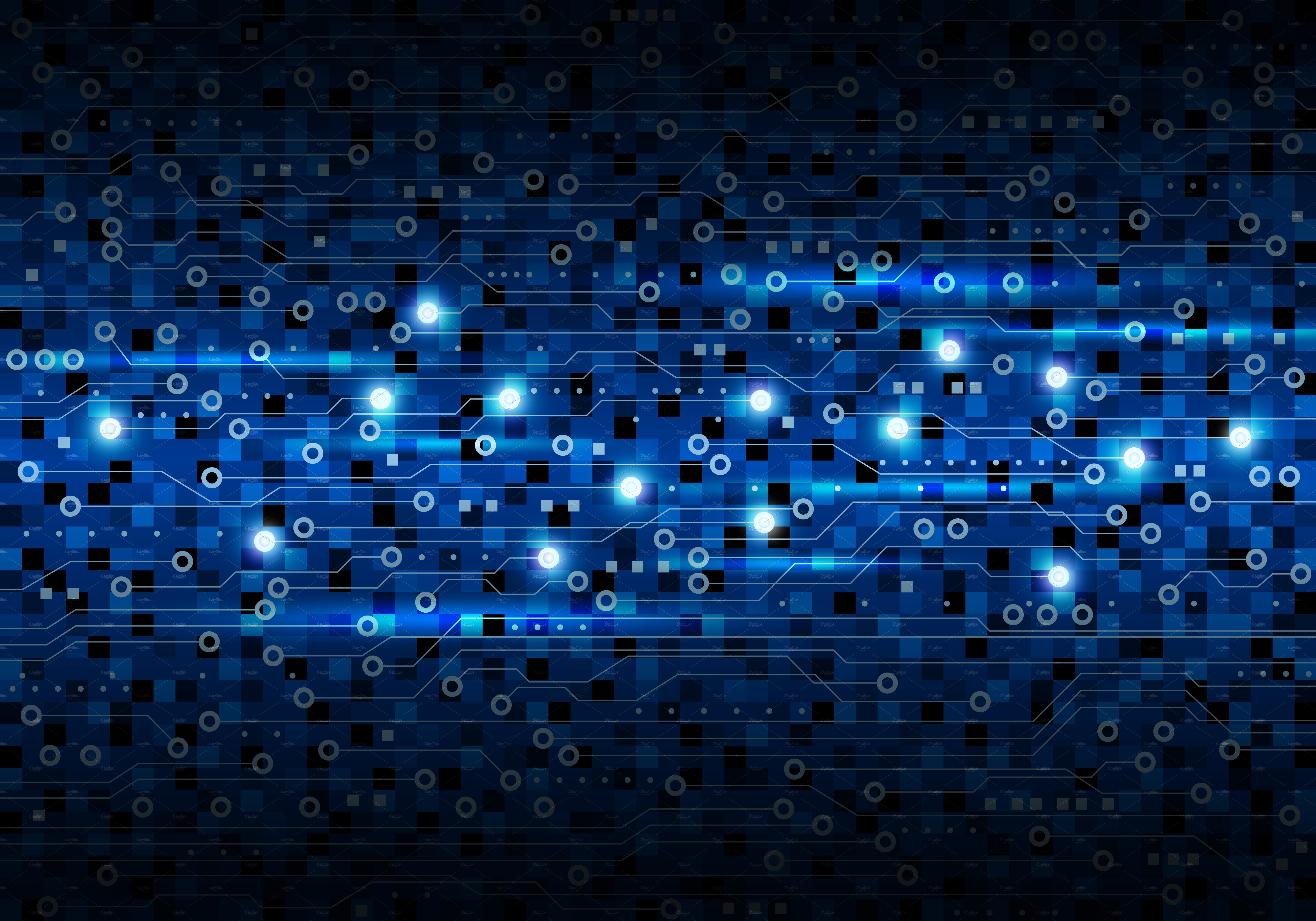 Vector Blue Circuit Board Illustrations Creative Market Photo Of Abstract Background With High Tech