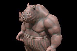 Rhino character 3d-print model