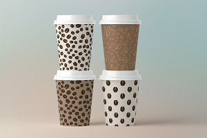 12 Coffee Seamless Patterns