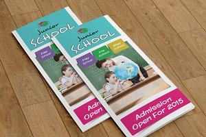 Trifold brochure for School-V72