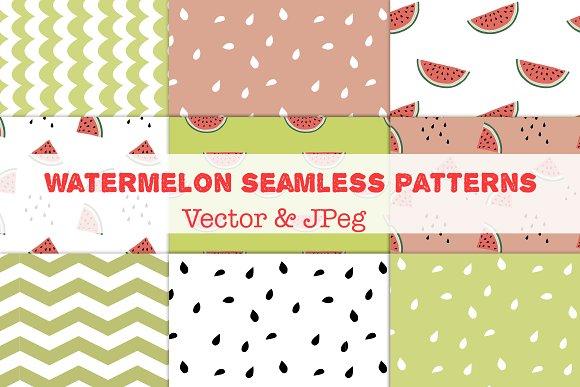 Watermelon Seamless Patterns