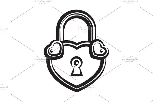 Lock Icon Black And White