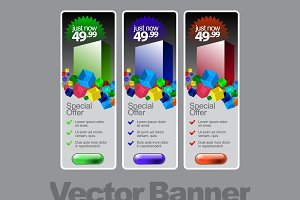 Abstract Shiny Glass Banner