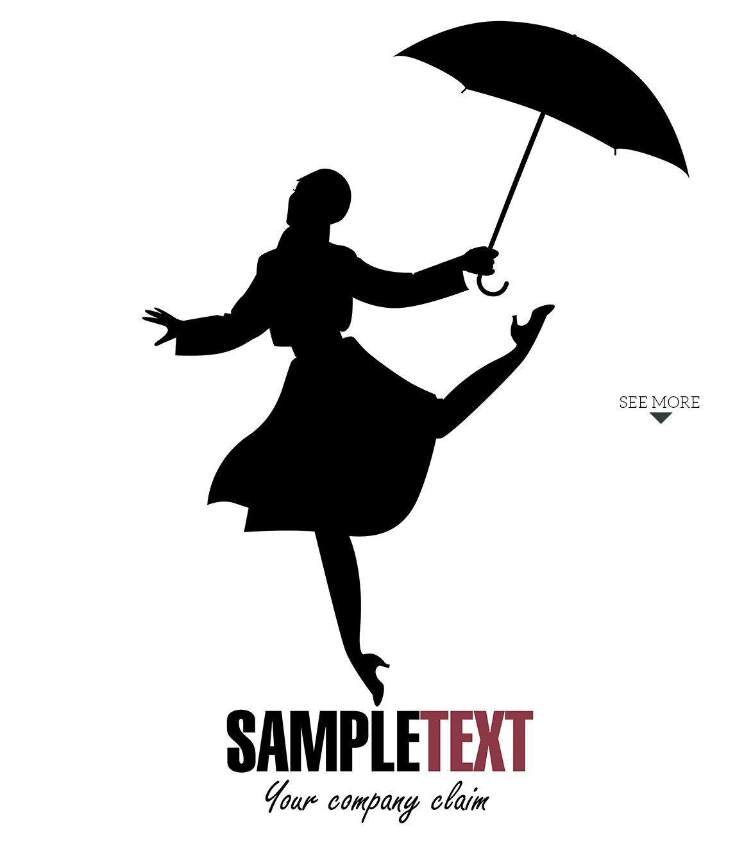 Girl dancing in the rain-1 ~ Illustrations ~ Creative Market