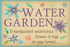 Water Garden - Watercolor Flowers