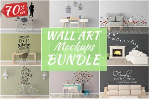 Wall Art Mockups BUNDLE V45