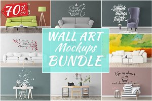 Wall Art Mockups BUNDLE V46