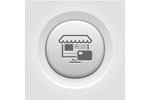 Online Store Icon. Business Concept