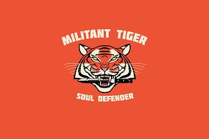 Militant Tiger Logo Template