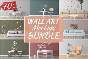Wall Art Mockups BUNDLE V47